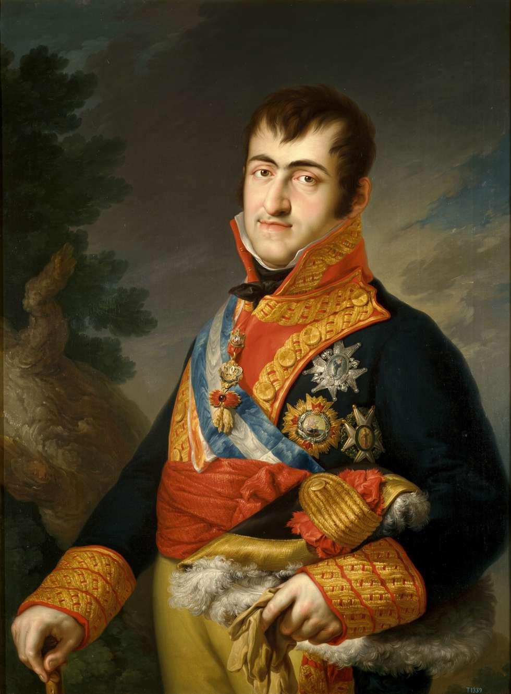 Fernando VII, retratado por Vicente López en 1814 con uniforme de capitán general.