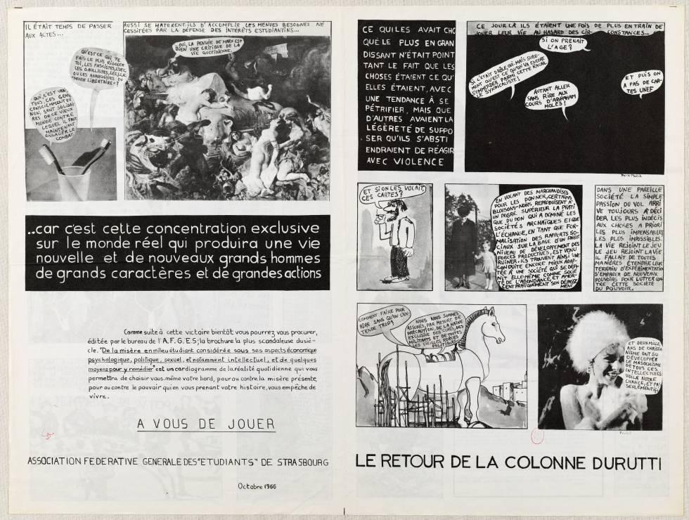 'El regreso de la Columna Durruti', cómic de la Internacional Situacionista.
