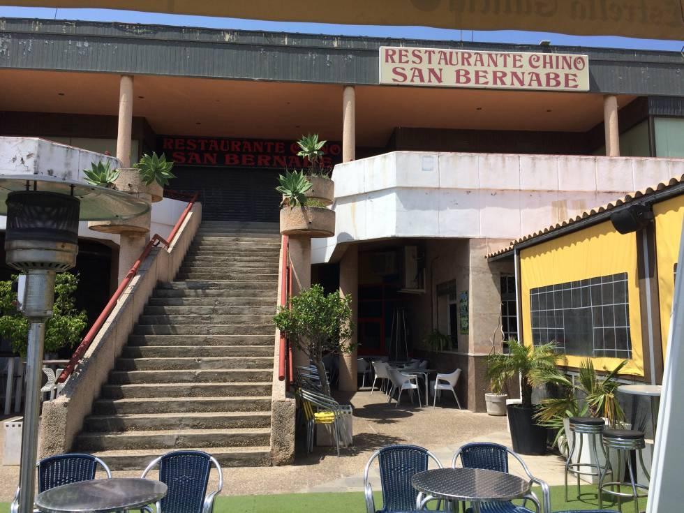 El restaurante chino San Bernabé, cerrado, antigua ubicación del cine Las Palomas, en Algeciras, el pasado abril.