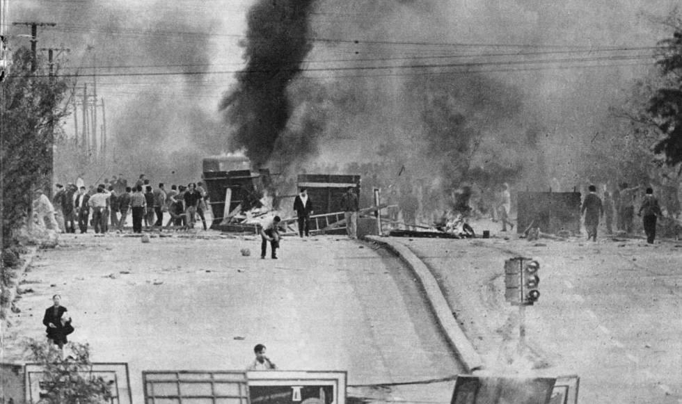 Protestas en la ciudad argentina de Córdoba en mayo de 1969.