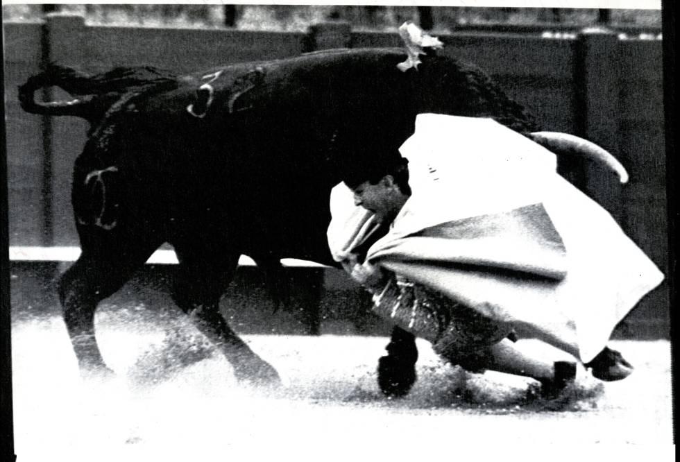 Cogida del diestro Pepe Luis Vargas el 23 de abril de 1987.