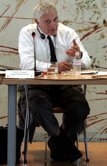 El editor Peter Mayer, en Madrid en 2005.