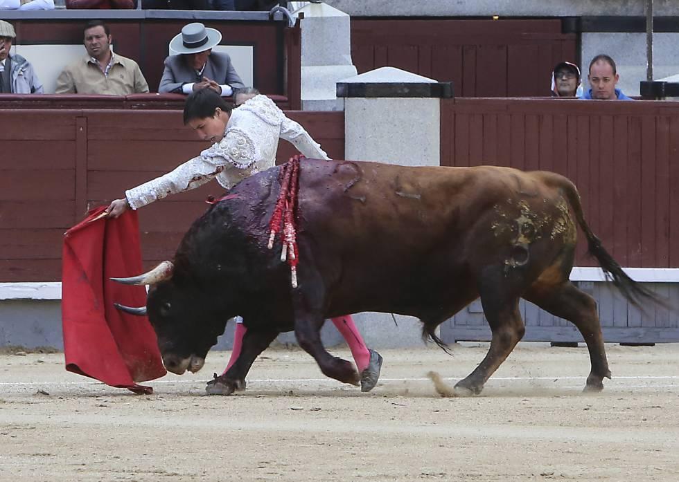 Francisco José Espada inicia un pase de pecho a su primer toro.