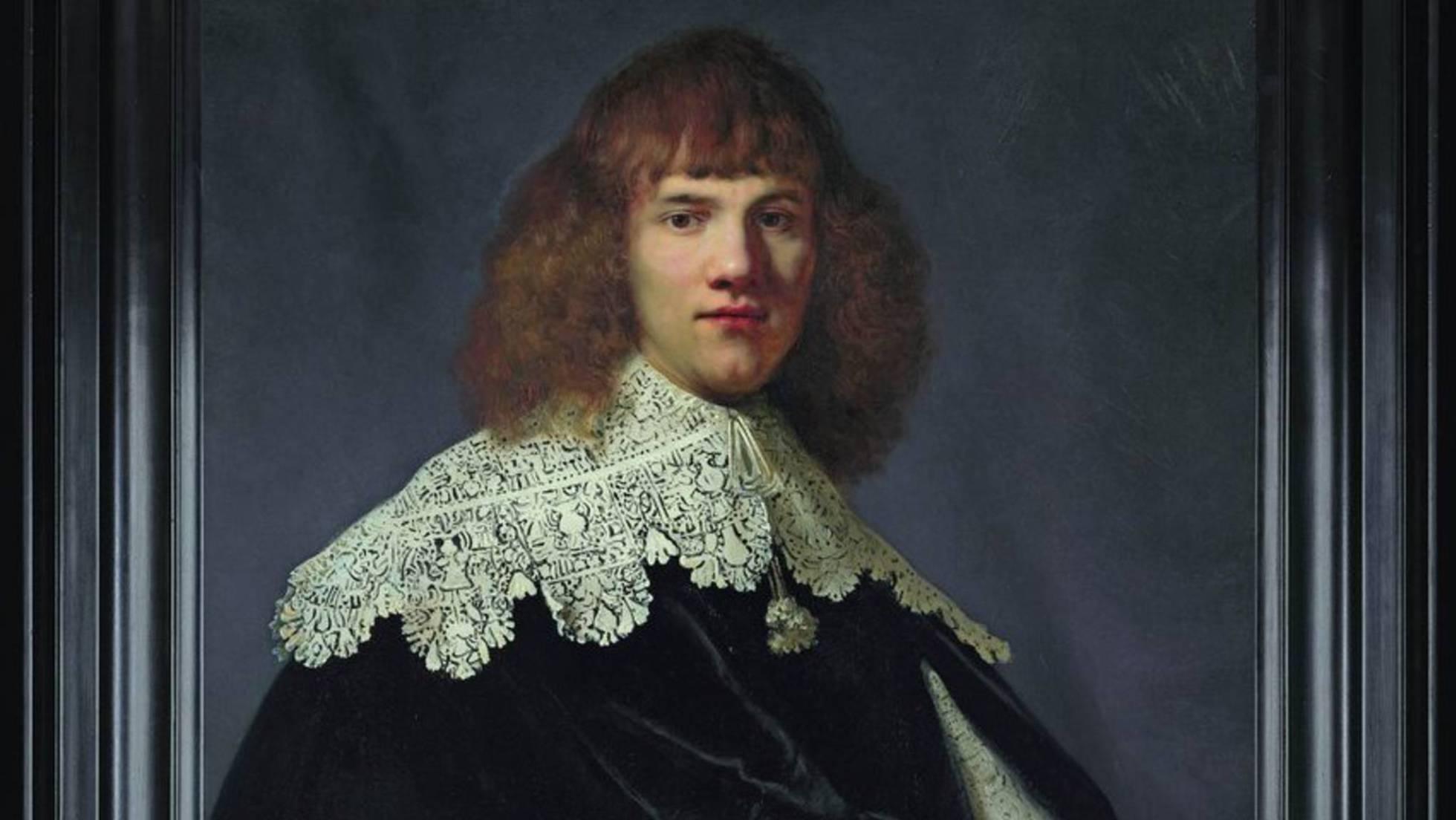 Fragmento del retrato de Rembrandt