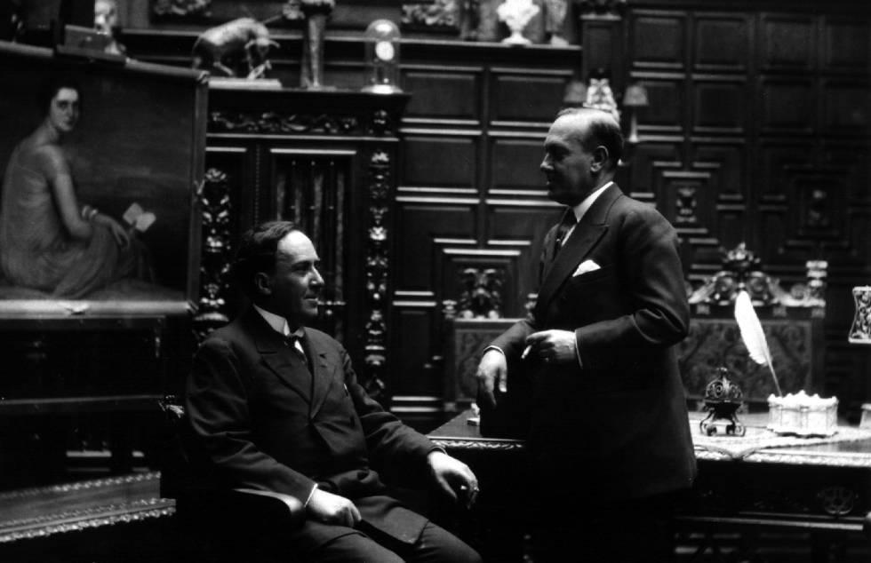 Antonio (izquierda) y Manuel Machado, en una imagen sin datar.