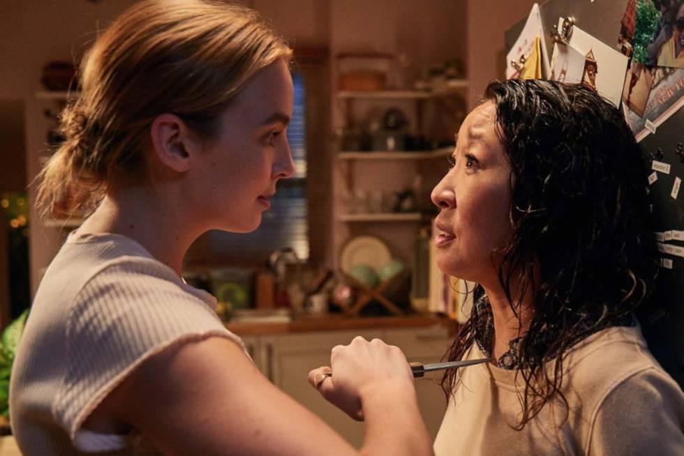 Jodie Comer (izquierda) y Sandra Oh en una escena de 'Killing Eve'.
