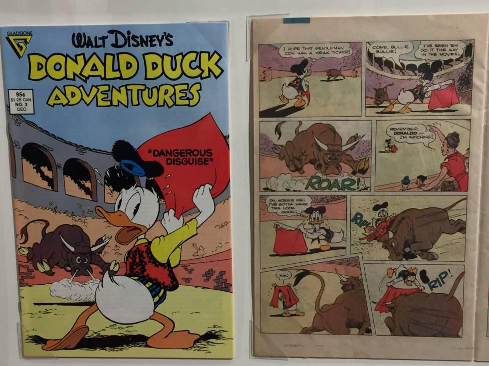 El Pato Donald torero, en una edición de 1987.