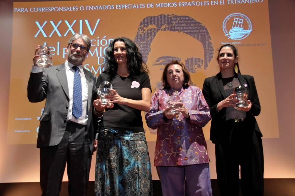 De izquierda a derecha, los periodistas Enrique Serbeto, Cristina Sánchez Carmen Sarmiento y Natalia Sancha.