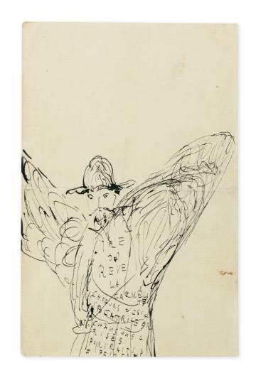 Dibujo de Reynaldo Hahn (1905-1907).