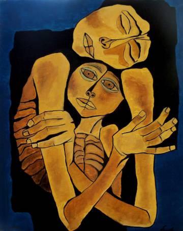 Ternura (1989), pintura de Oswaldo Guayasamín.