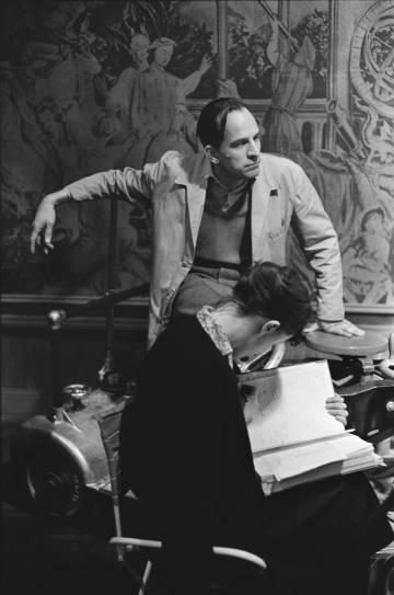 El director Ingmar Bergman en el rodaje de 'El ojo del diablo' (1960).