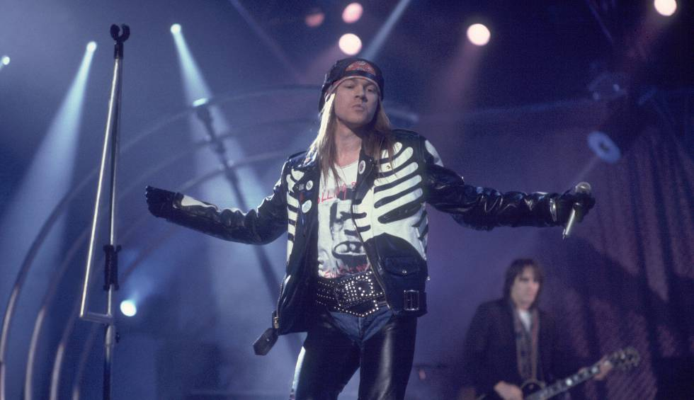 Axl Rose, el cantante de Guns N' Roses, en un concierto en 1989.