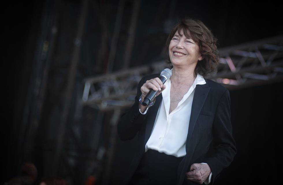 Jane Birkin, en su concierto este sábado en el Primavera Sound, en Barcelona.