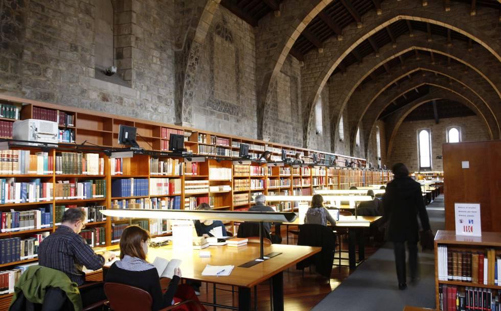 Sala de consulta de la Biblioteca Nacional de Catalunya.