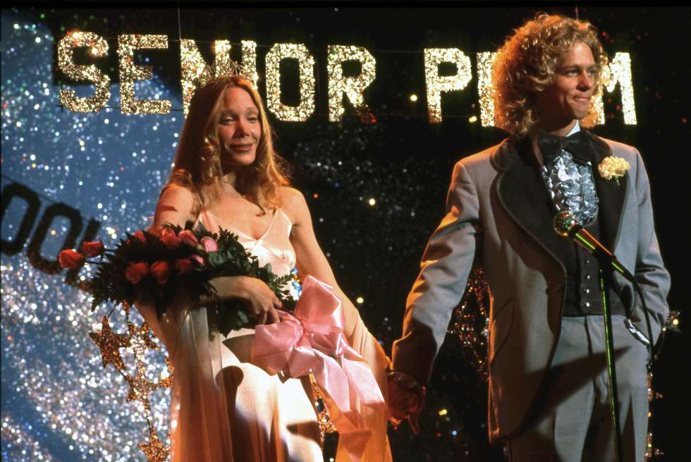 Sissy Spacek y William Katt, en un fotograma de 'Carrie' (1976).