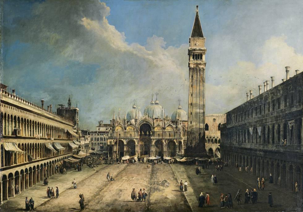 'La plaza de San Marcos en Venecia', de Canaletto (1723-24).