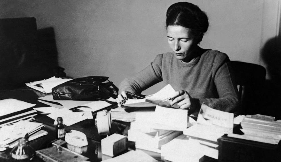 Simone De Beauvoir, en 1953.