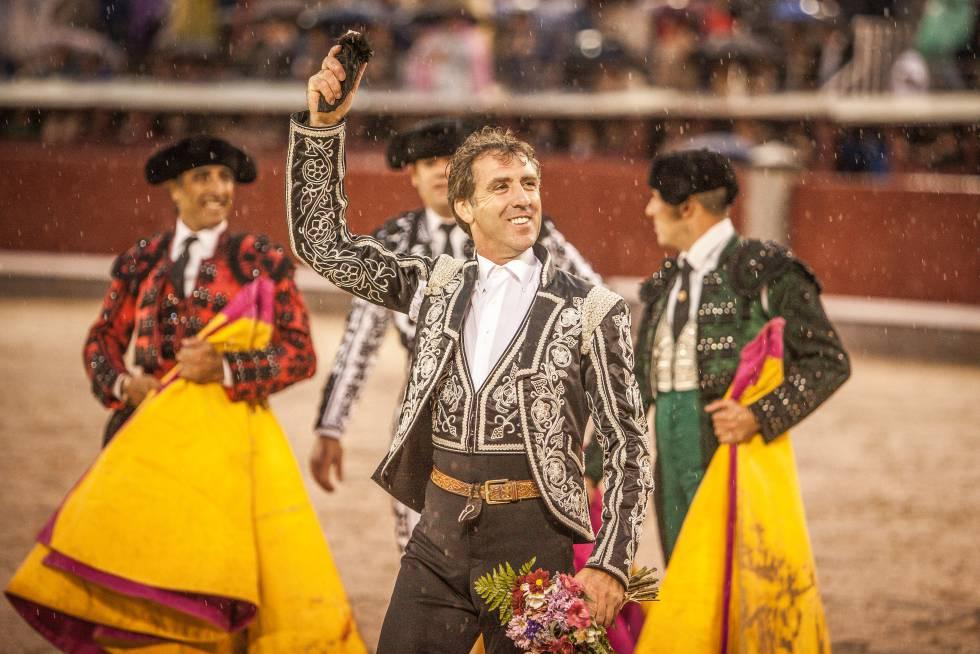 Hermoso de Mendoza, el pasado 2 de junio, en la plaza madrileña.