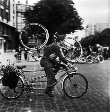Un ciclista francés en los años 50.
