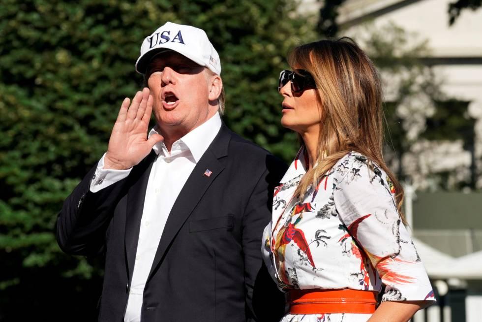 Donald y Melania Trump el 8 de julio en la Casa Blanca.