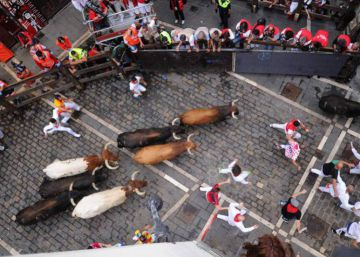 Watch: Lots of falls but no injuries during a thrilling Running of the Bulls