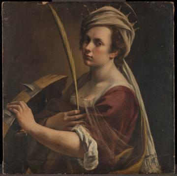 Autorretrato como santa Catalina de Alejandría, de Artemisia Gentileschi (1615-17).