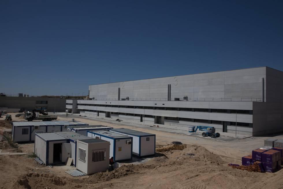Construcción de los estudios de Netflix en la Ciudad de la TV, en Tres Cantos (Comunidad de Madrid).