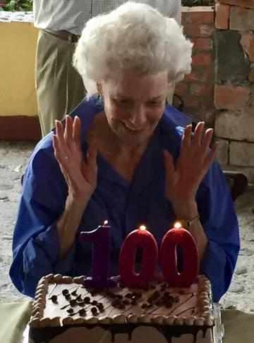 Boggs en su 100 cumpleaños, en mayo pasado