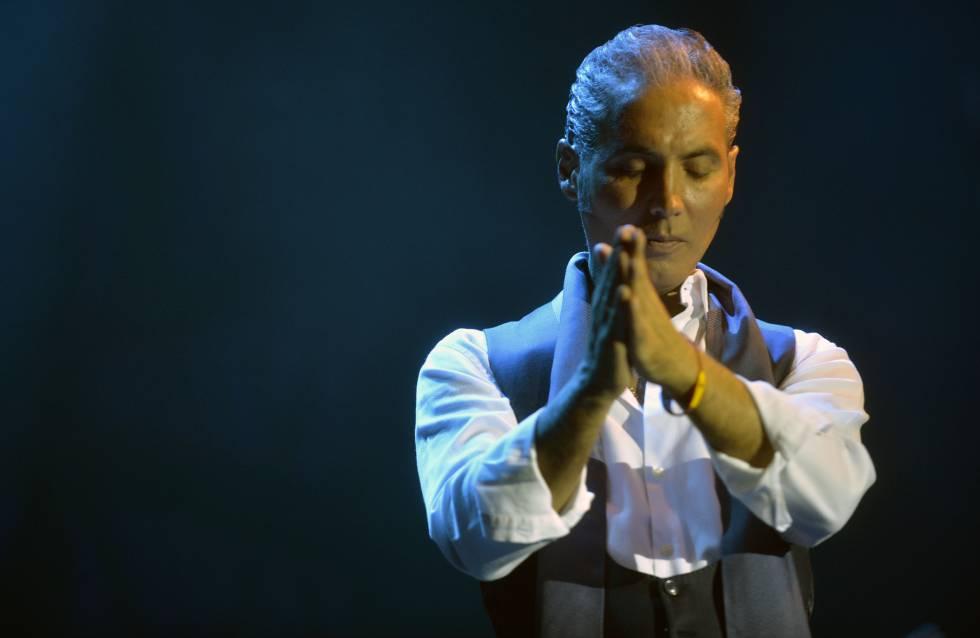 Antonio Manuel Álvarez, Pitingo, durante su actuación en el Cante de la Minas.