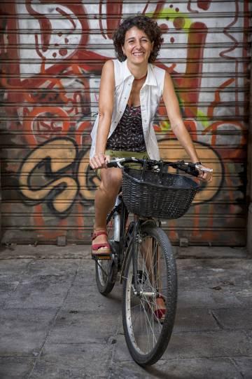 La filósofa Marina Garcés, en el barrio Gótico de Barcelona.