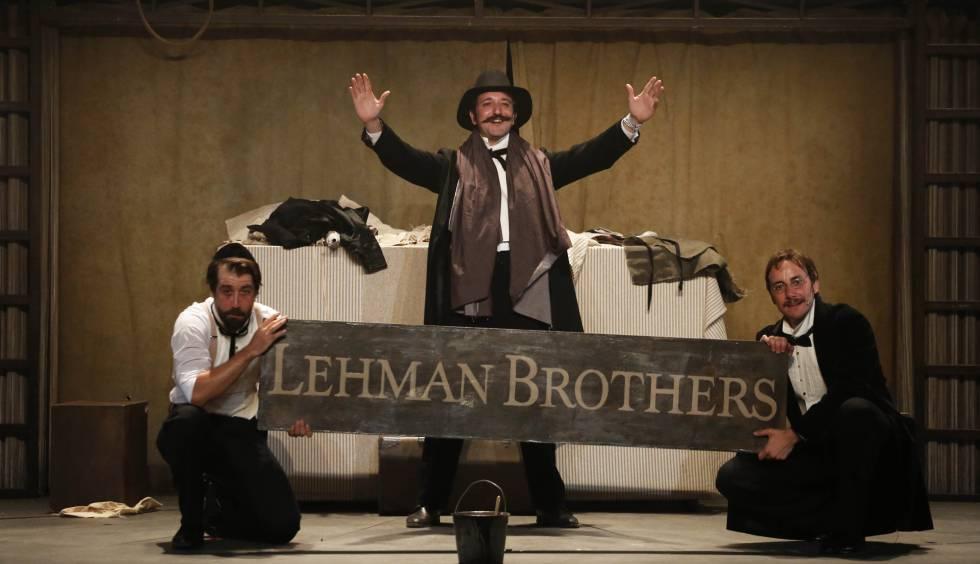 De izquierda a derecha, Leo Rivera, Litus y Pepe Lorente, en un ensayo de Lehman Brothers.