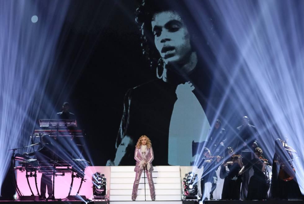 Madonna en una gala de premios en 2016 en Las Vegas.