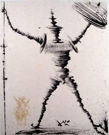 Ilustração de Salvador Dalí para 'Dom Quixote' (1945).