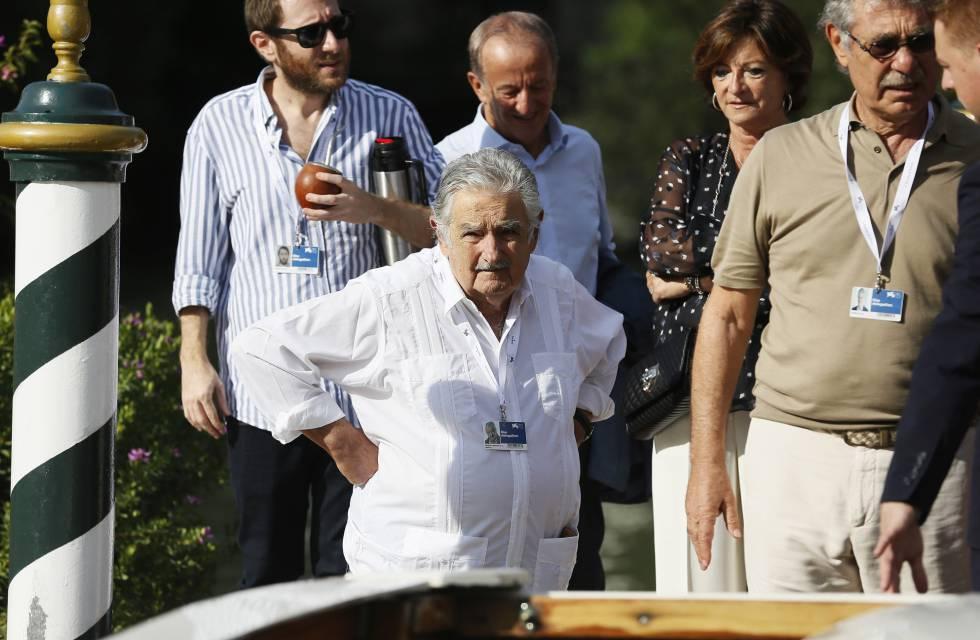 José Mujica, expresidente de Uruguay, ayer en la Mostra de Venecia.