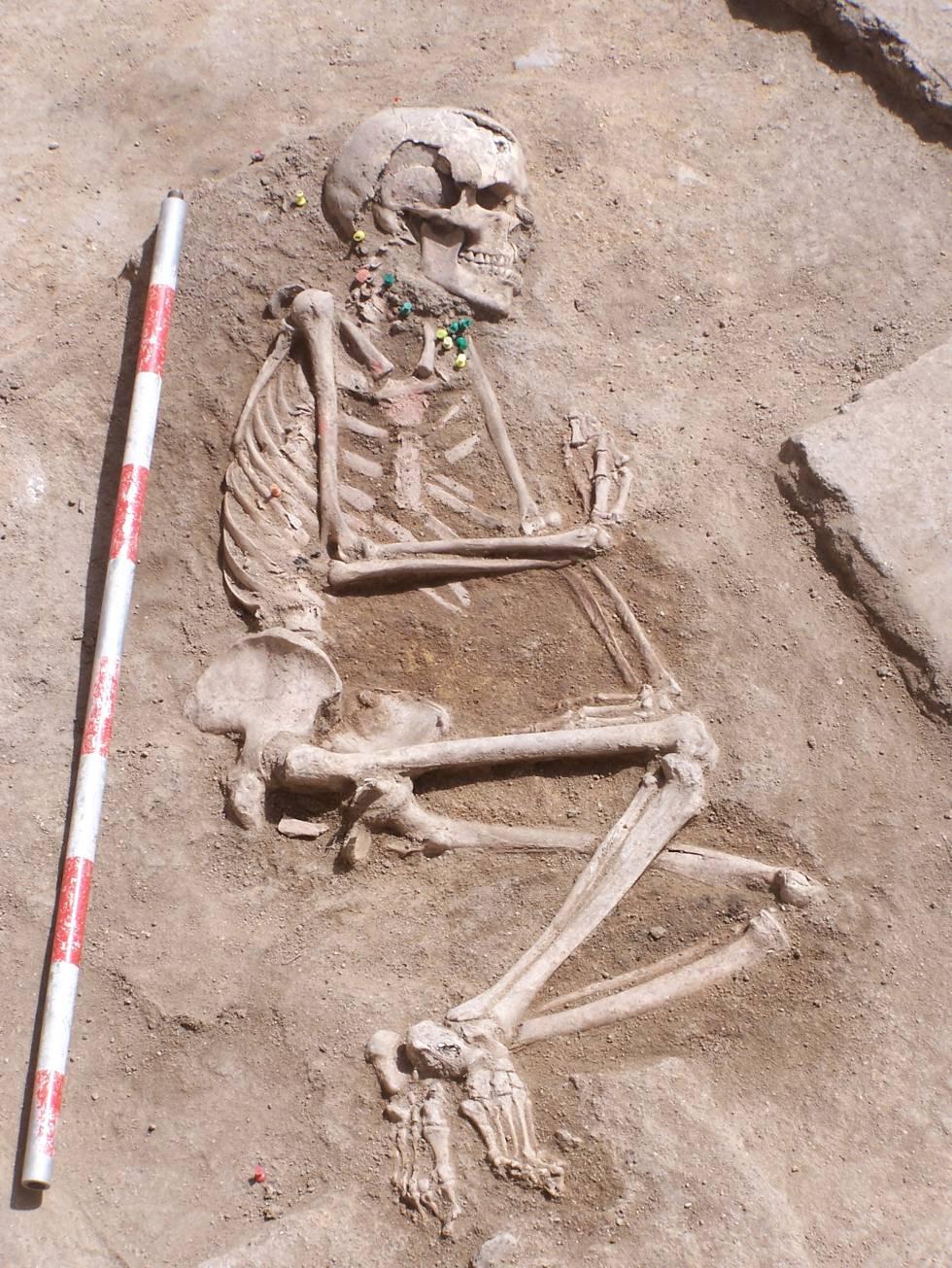 Cuerpo completo de la dama hallada en Humanejos.
