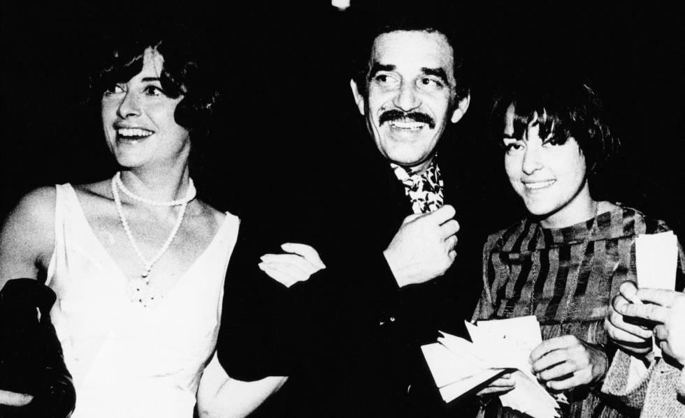 Marina Curiá, Gabriel García Márquez y Beatriz de Moura, en el Price en 1969.