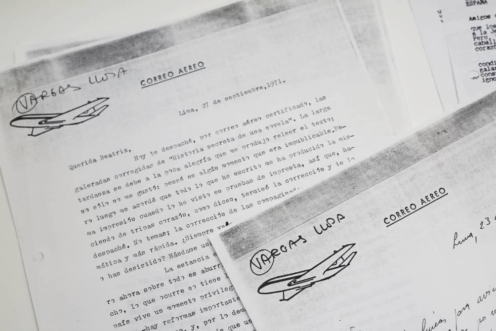 Correspondencia de Beatriz de Moura con Mario Vargas Llosa.