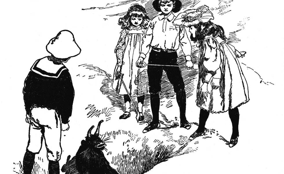 Ilustración de H. R. Millar, en el libro 'Cinco chicos y eso'.