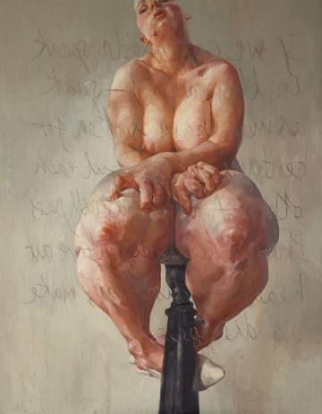 'Propped', el cuadro de Saville vendido por 10,8 millones.