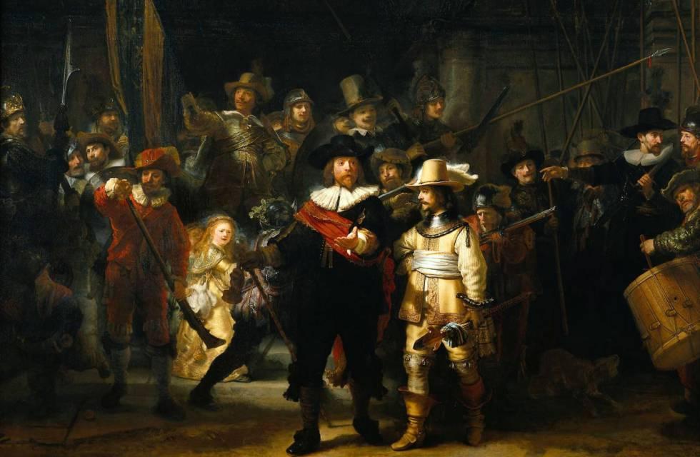 'La ronda de noche' de Rembrandt será restaurada frente al público