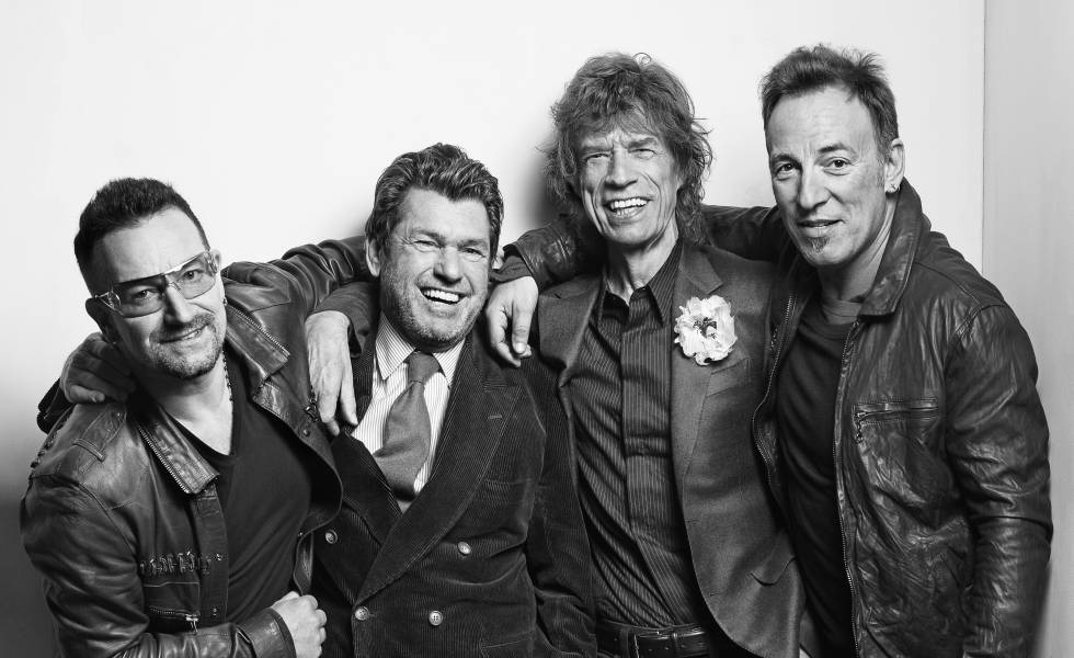 Bono, Jann Wenner, Mick Jagger y Bruce Springsteen, fotografiados por Mark Seliger en 2009.