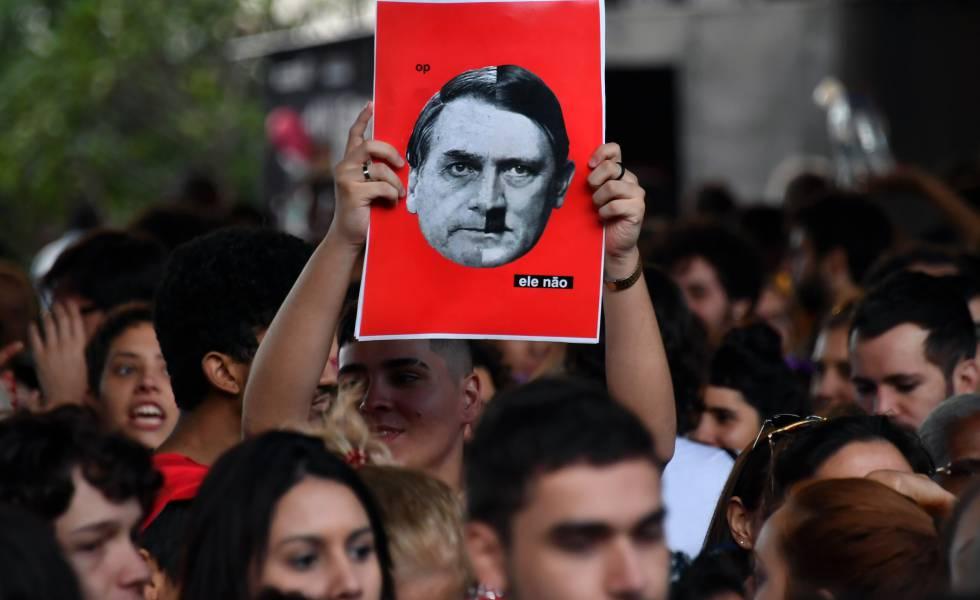 Protesta contra Bolsonaro en São Paulo, el 20 de octubre.