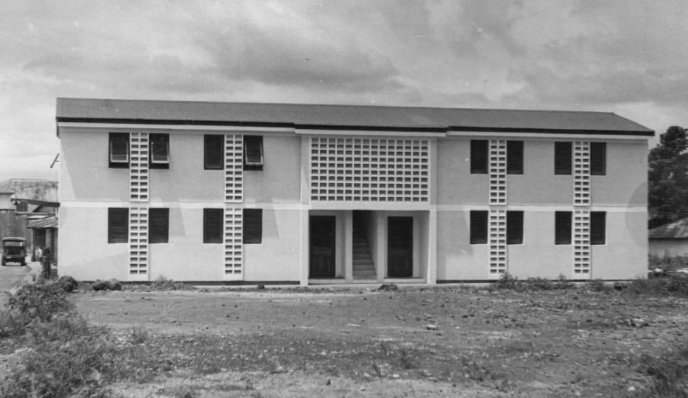 Edificio de viviendas en Luba.