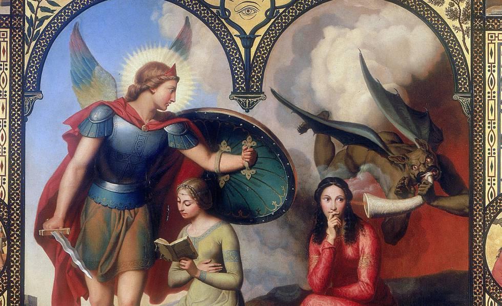 Fragmento de 'El bien y el mal', de Victor Orsel.