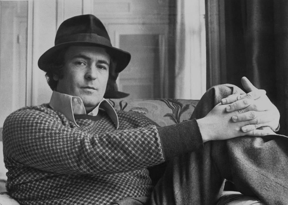 Bertolucci, en la presentación en Londres de 'El último tango en París', el 14 de marzo de 1973.