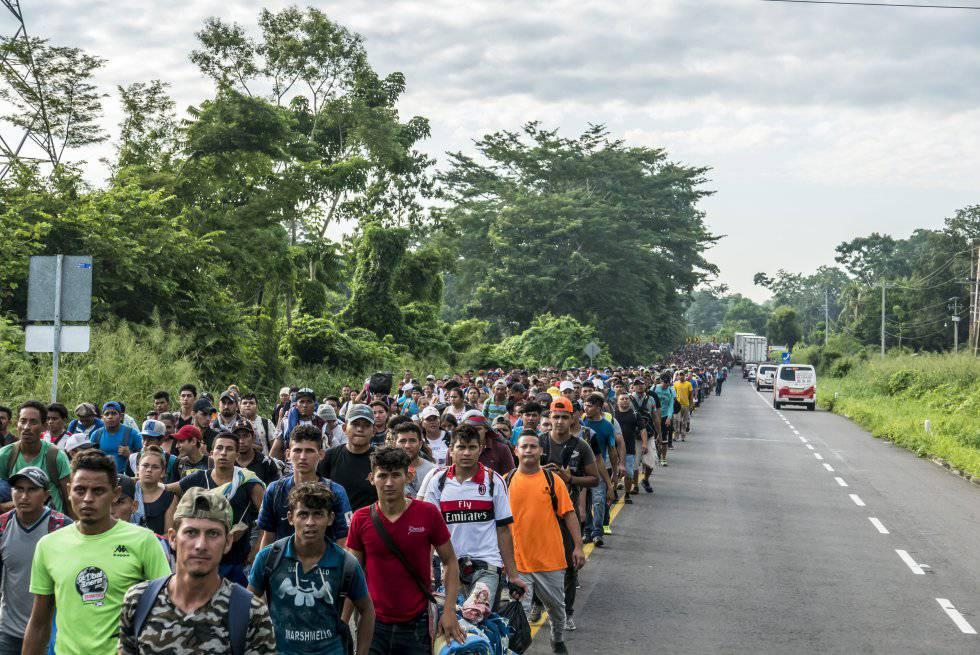 La caravana de migrantes, a su paso por México.