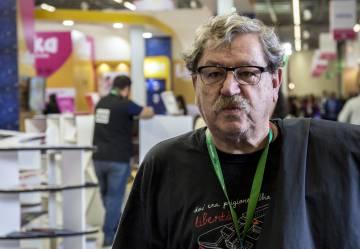Paco Ignacio Taibo, en la FIL