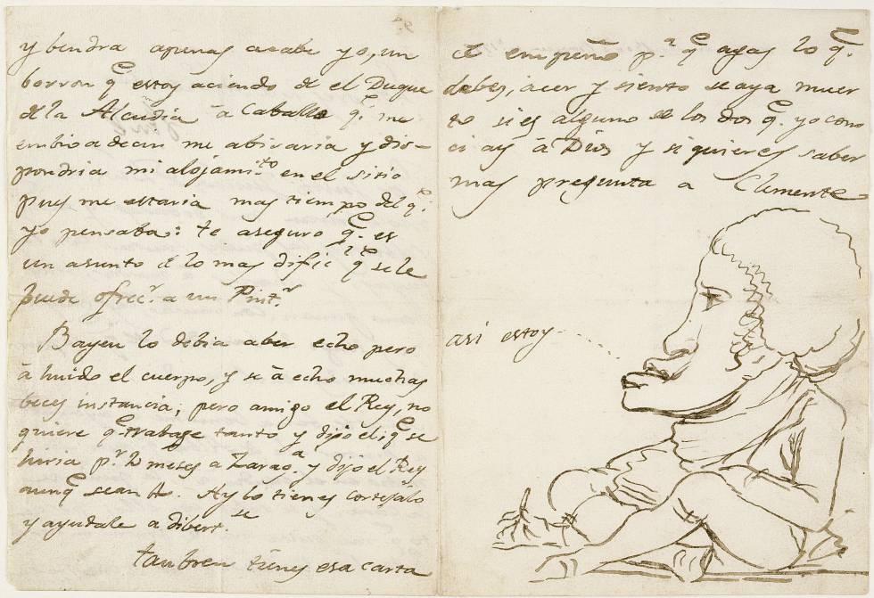 Carta de Goya a Martín Zapater.
