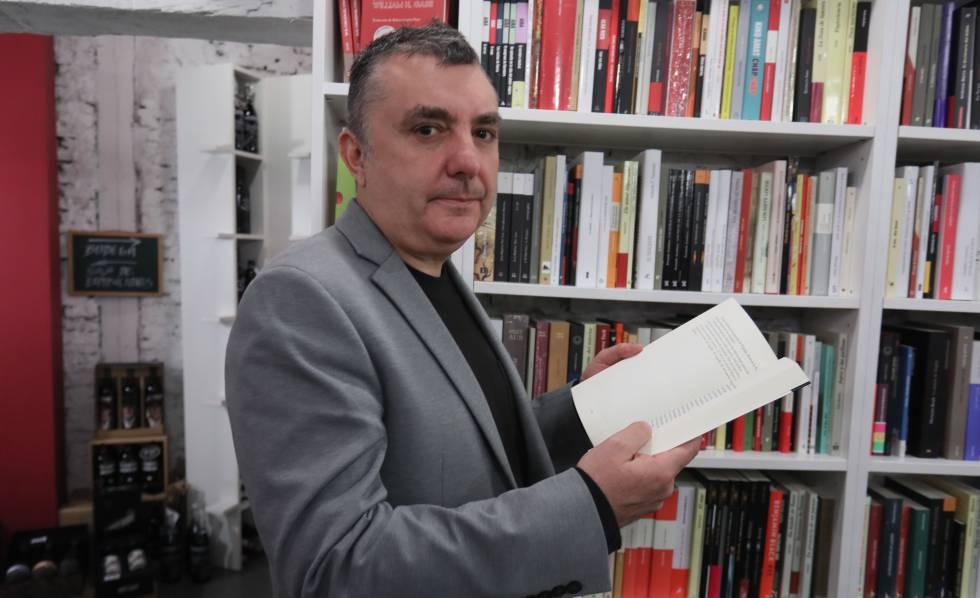 Manuel Vilas, en una presentación de 'Ordesa' en enero.