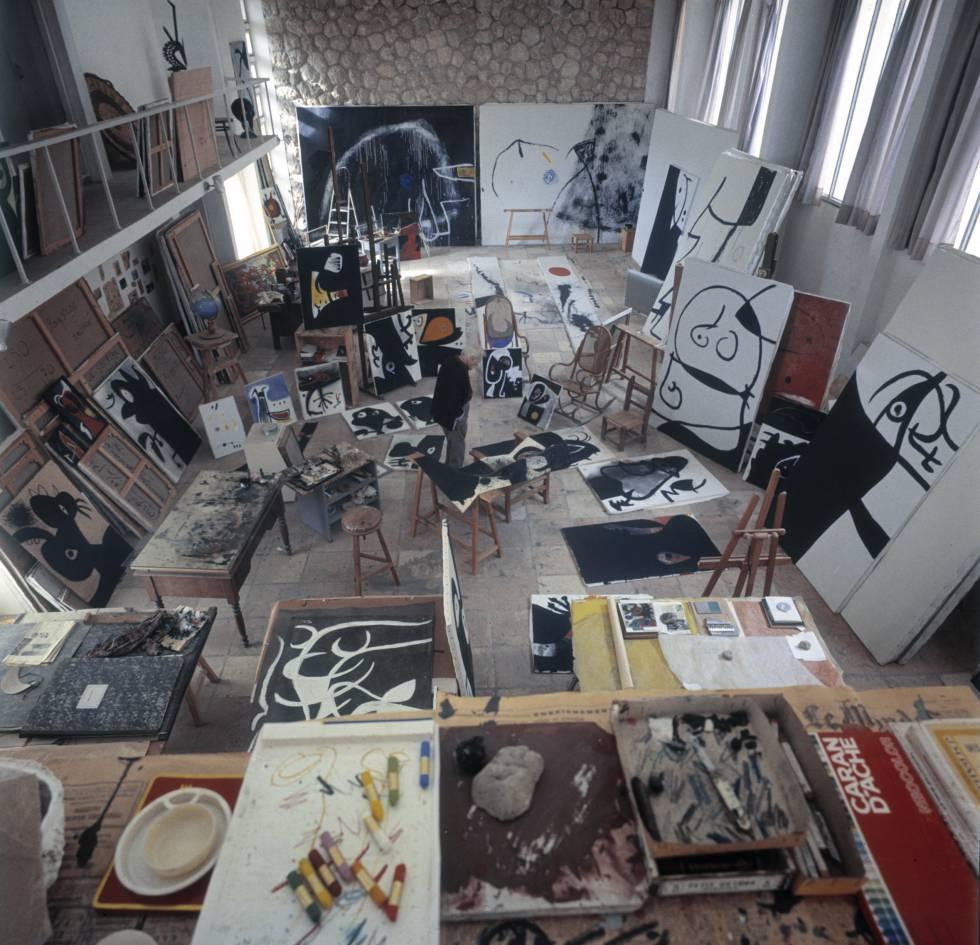 Interior del estudio en Mont-roig de Miró.